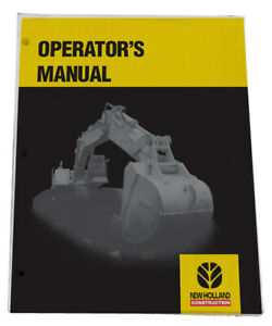 New Holland E50b Compact Excavator Owners Manual Operators Maintenance Book