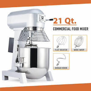 21 Qt Commercial Dough Mixer 1100w Stand Mixer With Stainless Steel Mixing Bowl