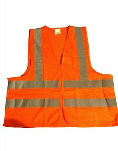 High Visibility Safety Vest Mesh Material For Construction And Road Safety