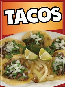 Tacos Decal Window Sticker Mexican Food Truck Concession Vinyl Restaurant
