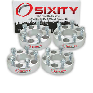4pc 1 5 Wheel Spacers For Ford Mustang Adapters Lugs Studs 5x114 3 Fs