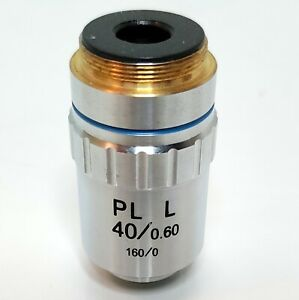 Generic Pl L 40 0 60 160 0 Microscope Objective Tested Clean Clear Image 239