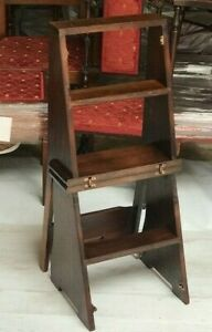 Antique Mahogany Library Steps Metamorphic Chair 7177 A