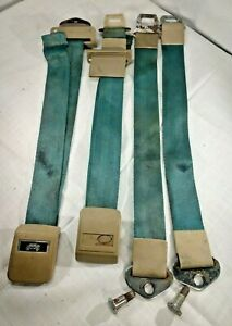 1965 Chevelle Malibu Gm Deluxe Carriage Seat Belt Teal Lap
