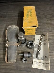 Vintage Greenlee Knockout Punch Set No 735bb With Leather Case