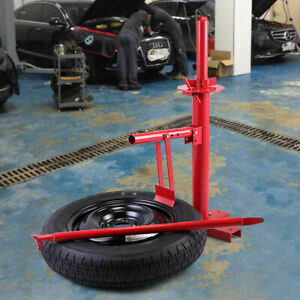 Manual Portable Hand Tire Changer Bead Breaker Tool Mounting Home Shop Auto Red