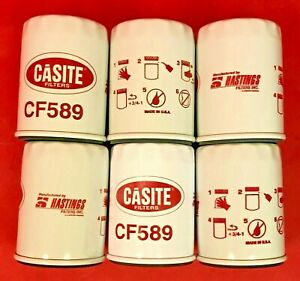 Case Of 6 Engine Oil Filter Casite Cf589 For Toyota Chrysler Jeep
