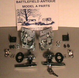 1928 1929 Model A Ford Outside Door Handle And Latch Set For Coupes And Tudors