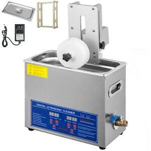 6l Ultrasonic Vinyl Record Cleaner Cleaning Machine Complete W drying Rack
