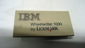 Used Certified Ibm Wheelwriter Personal 1000 Front Panel Badge W warranty