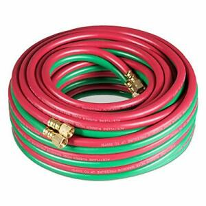 50ft Twin Welding Torch Hose Oxy Acetylene Oxygen Cutting 1 4 inch 300psi