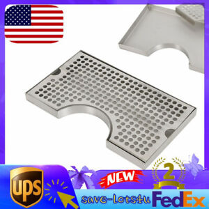 No Drain Surface Mount Stainless Steel Tap Draft Beer Kegerator Tower Drip Tray
