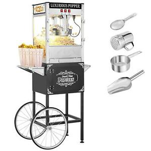 Commercial 8oz Popcorn Machine Theater Popper Maker Paragon With Cart Outdoor Us