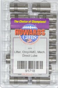 Howards Racing Components Solid Lifters Amc Mopar Direct Lube 91718