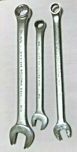 3 Proto 12 Point Standard Combination Wrenches 11 16 7 16 Usa