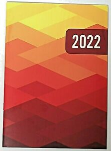 2022 Planner geometric Monthly Format 9 1 2 X 6 3 8 Lay Flat Spine Organizer