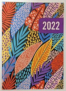 2022 Planner leaves Monthly Format 9 1 2 X 6 3 8 Lay Flat Spine Organizer