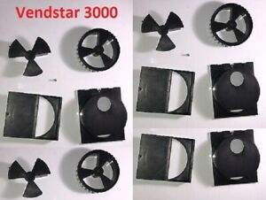 3 Vendstar 3000 Candy Machine Dispensing Wheel And Brush Housing Sets