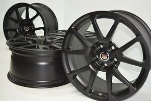19 Cadillac Cts V Coupe Factory Oem Gm Wheels Rims Cts Black 4647 4648