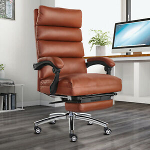 360 Boss Office Chair High Back Recline Pu Leather Black brown Office Executive
