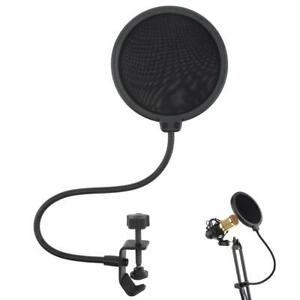 Double Layer Recording Studio Microphone Pop Filter Mic Wind Screen Mask Shield $6.89