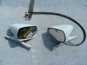 1971 1972 1973 Mach 1 Mustang Remote Outside Sport Mirrors Pair Oem