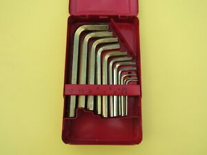 Snap On Awm110bhk 11 Piece Metric Hex Key Set In Case 2mm To 12mm Ships Free