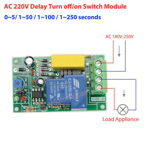 30a Ac 220v 230v Time Delay Turn On off Timer Module Timing Relay Control Switch