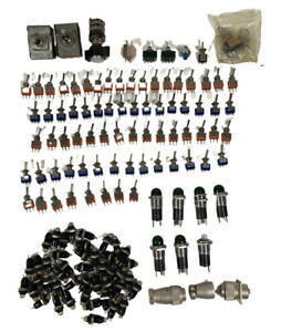 Huge Lot 100 Vintage Switches Toggle Levers Lights Almost 3 Pounds