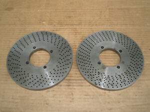 Two Index Plates For Dividing Head 2 1 4 Center 7 Od
