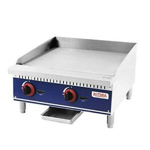 Commercial Countertop Manual Griddle 24 Heavy 24 Natural Gas Griddle