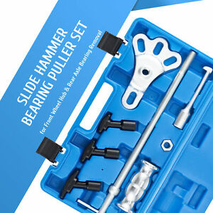 Omt 8pc Rear Axle Seal Bearing Remover Tool Set Slide Hammer Kit With Adapters