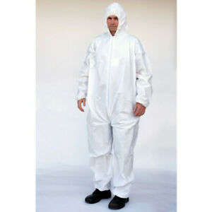 Full Case Micropourous Coverall Bunny Suit Cheaper Alternative To Tyvek Ty127