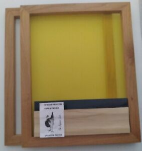 Screen Printing Frame 20 By 16 1 200 Mesh 1 160 Mesh And Squeegee