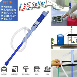 Fuel Liquid Syphon Pump Transfer Gas Oil Water Battery Operated Electric Siphon