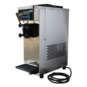 110v 15l h Commercial Single Flavor Soft Ice Cream Making Machine Self cleaning