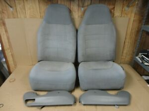92 96 97 Ford Obs Pickup Truck Front Bucket Jump Seats 40 20 40 Gray