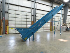 Prodeva Recycling 36 x 25 Cleated Belt Incline Conveyor 1hp 460v 3ph End Drive