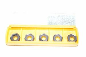 Pack Of 5 New Kennametal Hngj0604anenld Kcpm20 Indexable Carbide Inserts