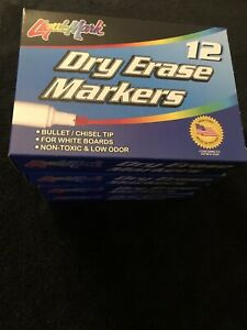 Dry Erase Markers Lot Liquimark Black Chisel Tip 48 Ct Office business Supply