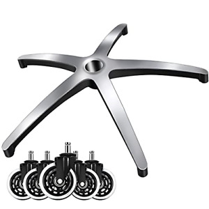 Office Chair Base With Caster Wheelsset Of 5 25 Heavy Duty Office Chair Bottom