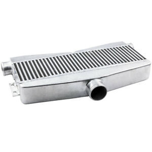 Aluminum Universal Twin Turbo Intercooler 28 X12 X2 5 2 Inlet 1 Outlet 800hp