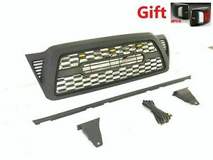 Front Hood Grille For Tacoma 2005 2011 With Lights Bumper Grill Black Fits 2007 Toyota Tacoma