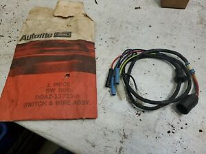 Doaz13713a 1970 Ford Galaxie Ltd Door Jamb Courtesy Lamp Switch Wiring Assy