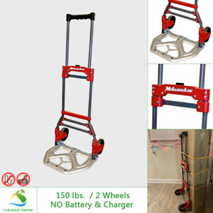 Milwaukee Fold up Hand Truck Dolly 150 Lb Capacity Moving Portable Extendable