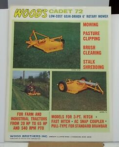 Woods Equipment Cadet 72 Gear Driven Rotary Cutter Tractors Hay Brush Weed Cut