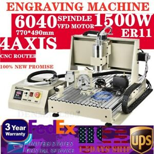 Usb 4axis 6040 Cnc Metal Engraver Router Diy 3d Milling Engraving Cutter Machine