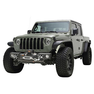 Off Road Front Winch Bumper With Fog Light Hole Fit For 20 21 Jeep Gladiator Jt