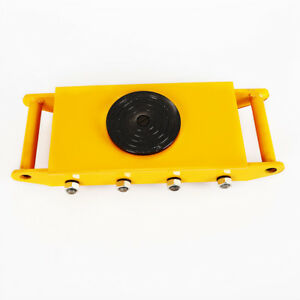 Machinery Mover 12ton Machine Dolly Skate Roller Cargo Trolley Yellow red Us