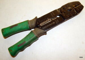 Commercial Electric Green Handle Wire Cutter Stripper Tool
